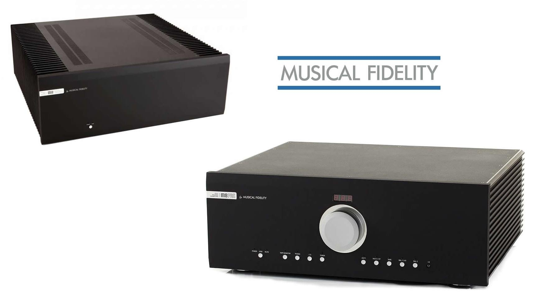 Die Musical Fidelity M8PRE Vorstufe und M8 500s Endstufe kauft man beim Akustiktune Hifi Studio