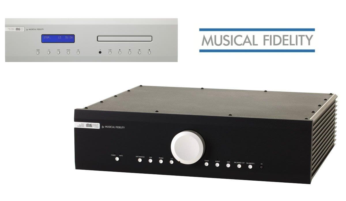 Den Musical Fidelity M6si Vollverstärker und den M6s CD-Player kauft man beim Akustiktune Hifi Studio