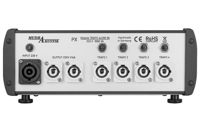 Mudra Akustik PX Trafo 4x250 VA Back