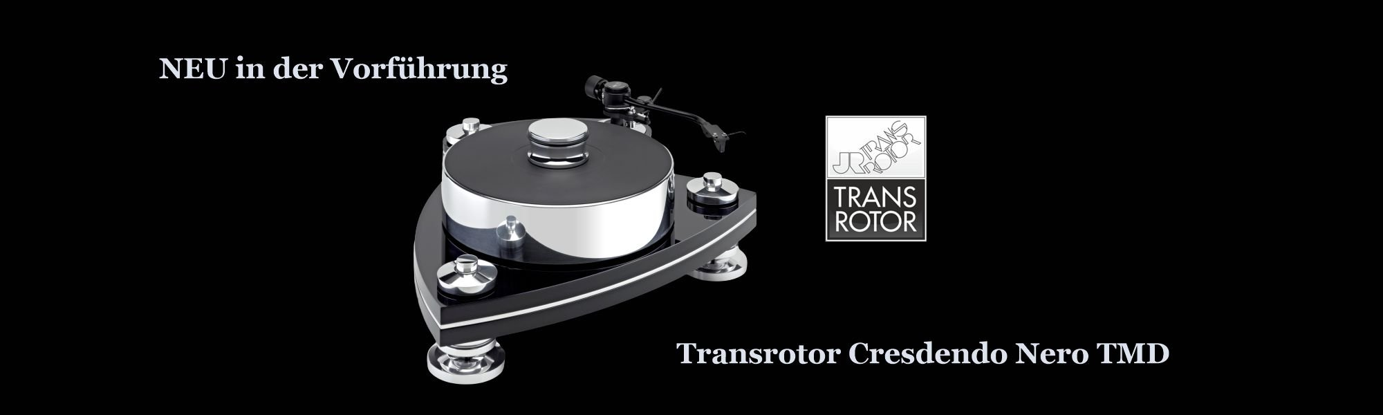 Transrotor Plattenspieler Laufwerk Crescendo Nero